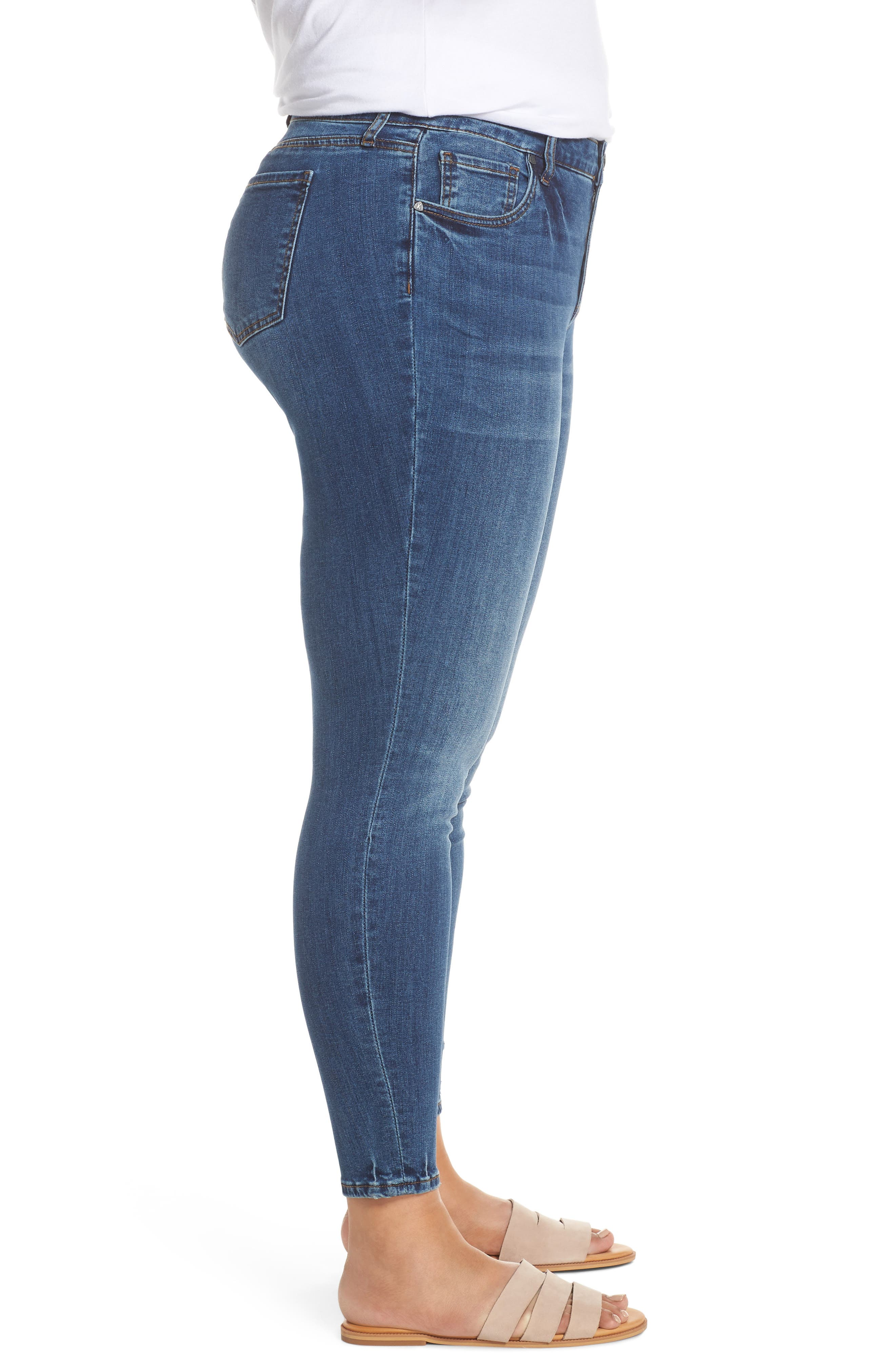 ,                             Donna Skinny Ankle Jeans,                             Alternate thumbnail 4, color,                             UNTOUCHABLE