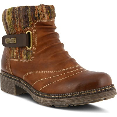 Spring Step Citrine Bootie - Brown