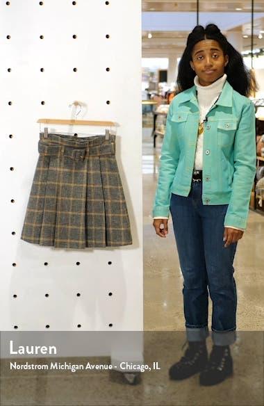Echo Plaid Pleated Alpaca & Wool Blend Miniskirt, sales video thumbnail