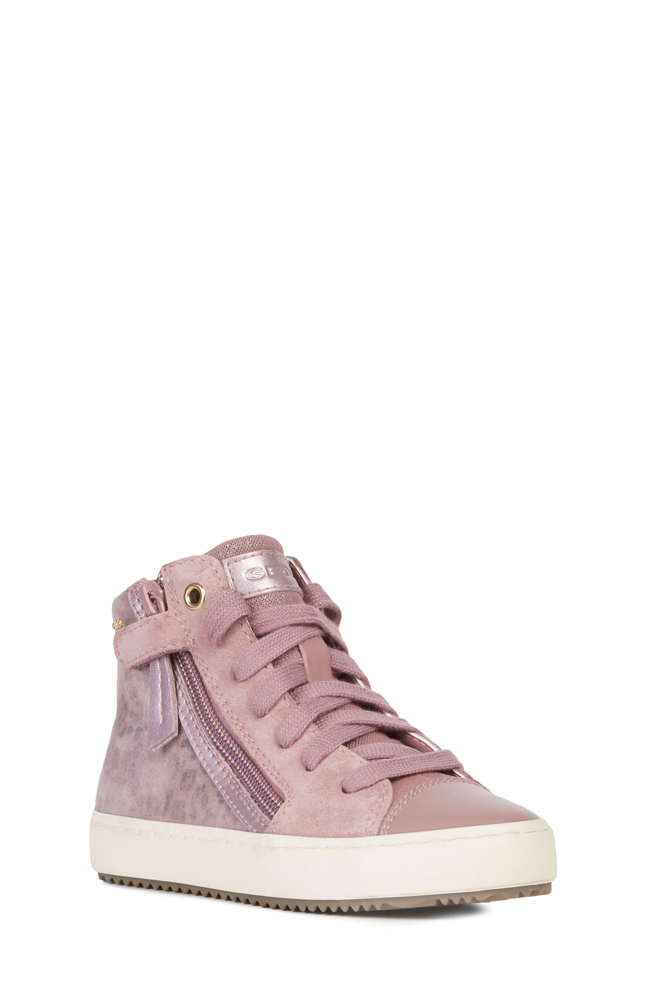 Girls Geox Kalispera HighTop Sneaker Size 55US  38EU  Pink