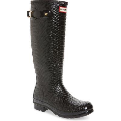 Hunter Perfect Pairs Original Tall Waterproof Rain Boot, Black