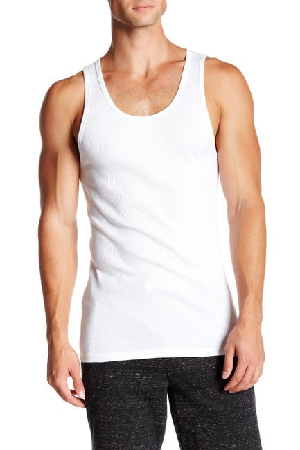 Image of Calvin Klein Cotton Ribbed Tank - Pack of 3