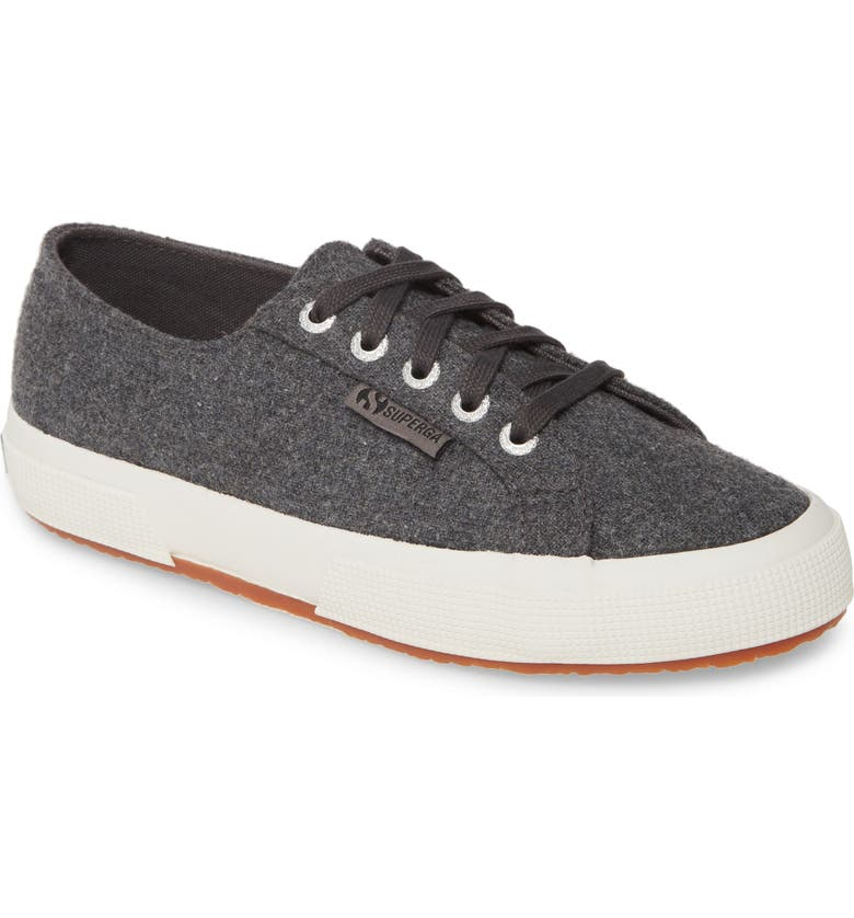 SUPERGA 2750 Franelawoolw Low Top Sneaker, Main, color, DARK GREY