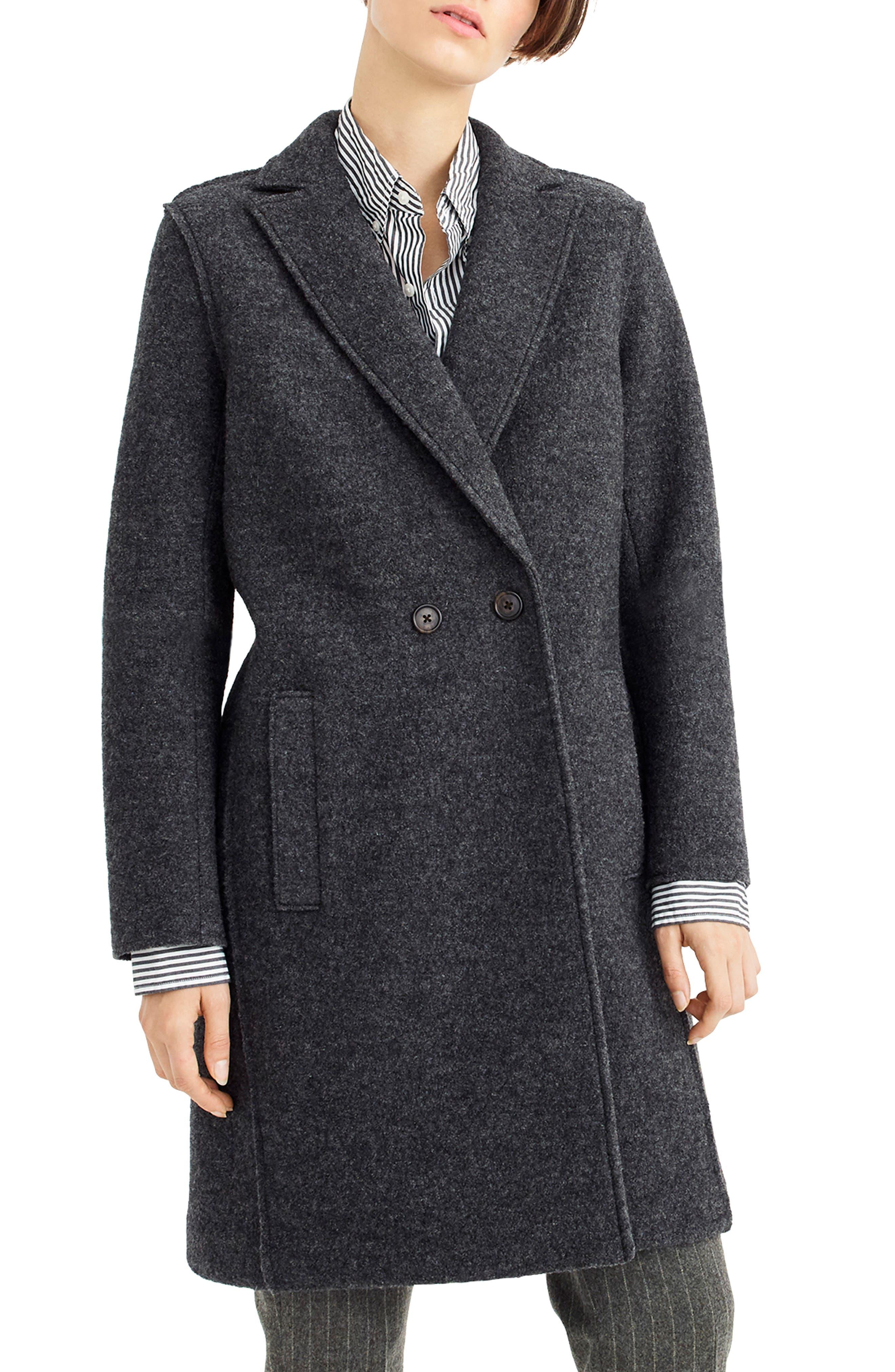 ,                             Daphne Boiled Wool Topcoat,                             Main thumbnail 20, color,                             091