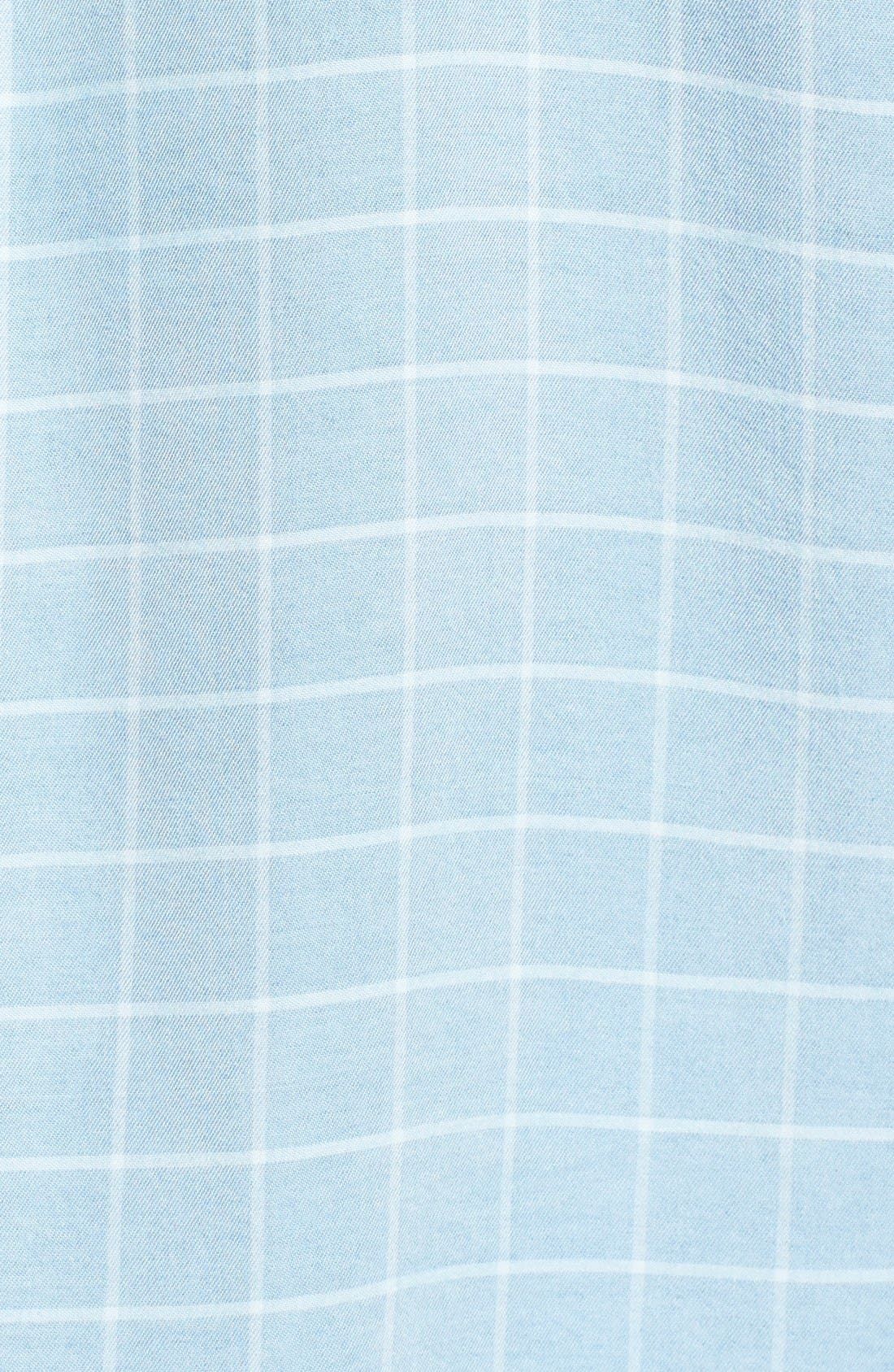 ,                             'Frankie' Check Chambray Button Front Shirt,                             Alternate thumbnail 5, color,                             400