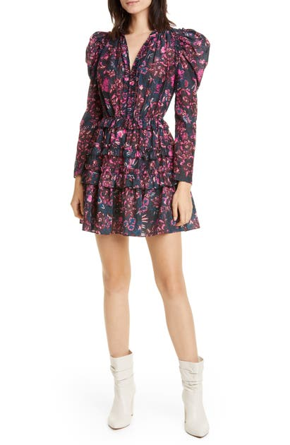 Ulla Johnson Dresses ARLENE RUFFLE TIERED MIDI DRESS