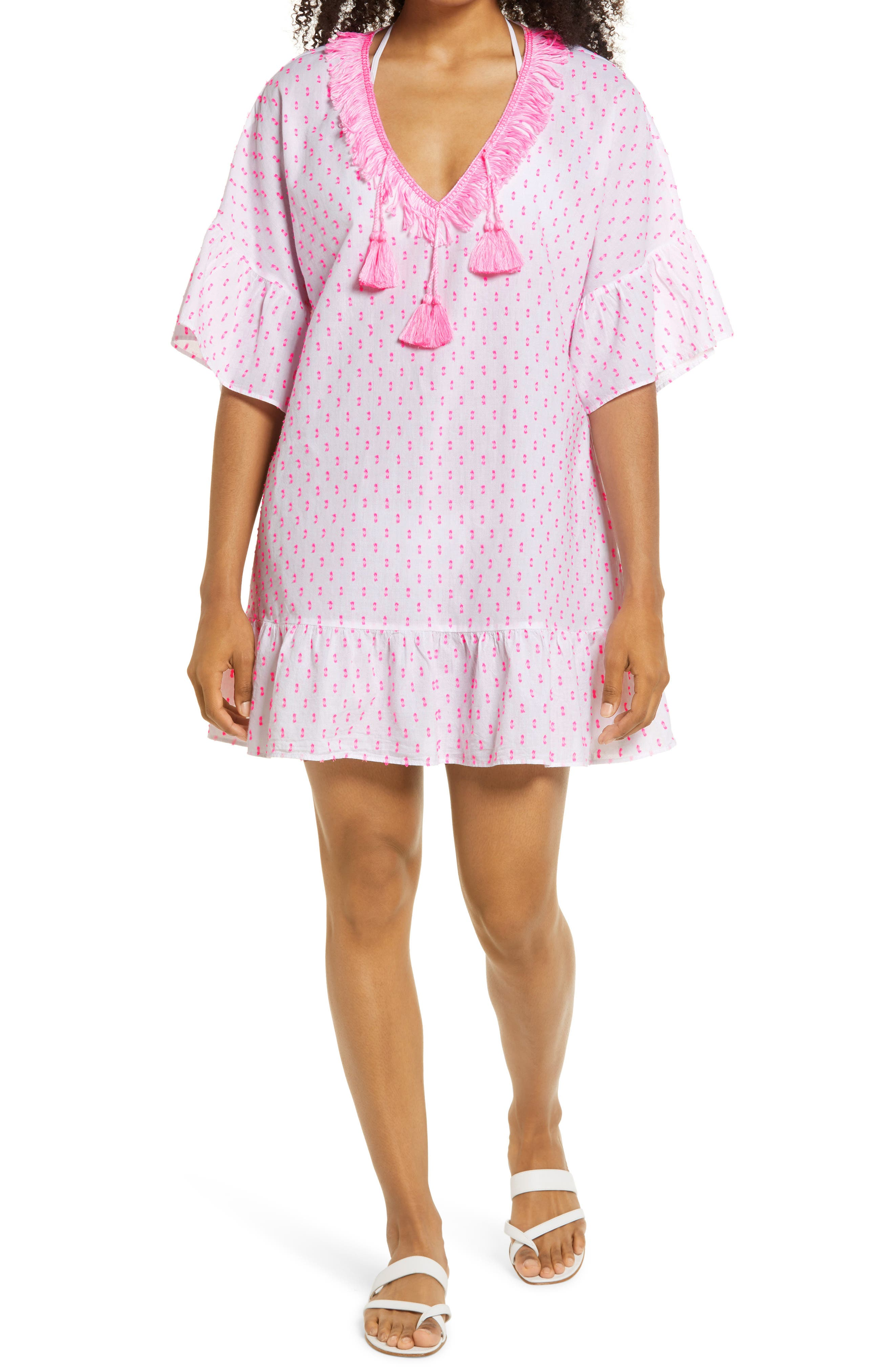 Women's Lilly Pulitzer Kipper Clip Dot Cover-Up Dress