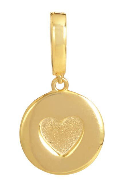 Image of Savvy Cie 18K Yellow Gold Vermeil Heart Charm