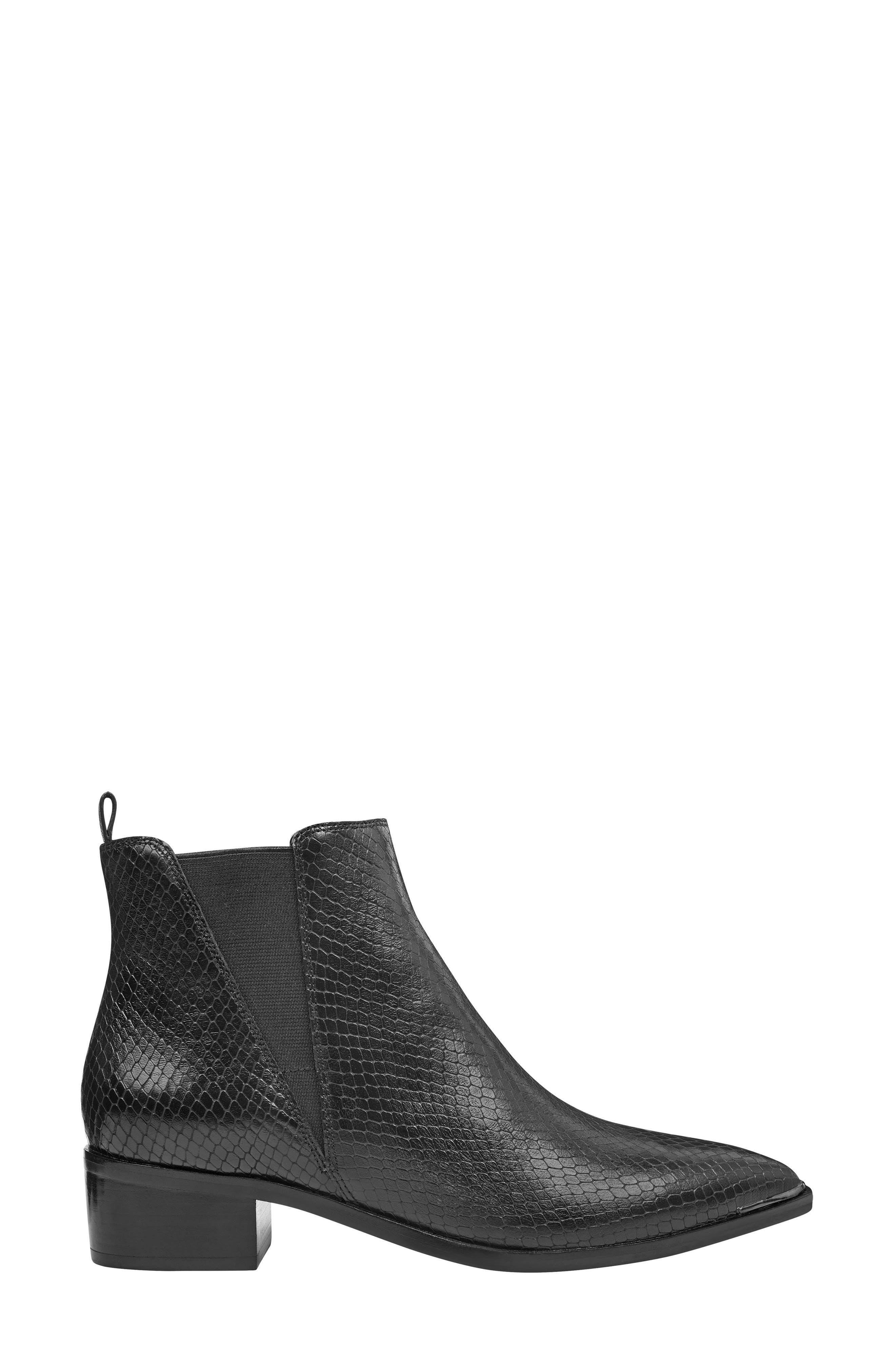 ,                             'Yale' Chelsea Boot,                             Alternate thumbnail 3, color,                             BLACK SNAKE