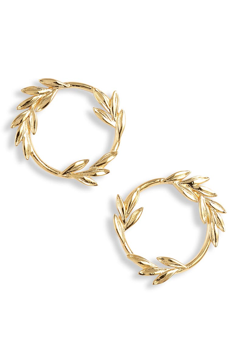 GORJANA Willow Circle Stud Earrings, Main, color, GOLD