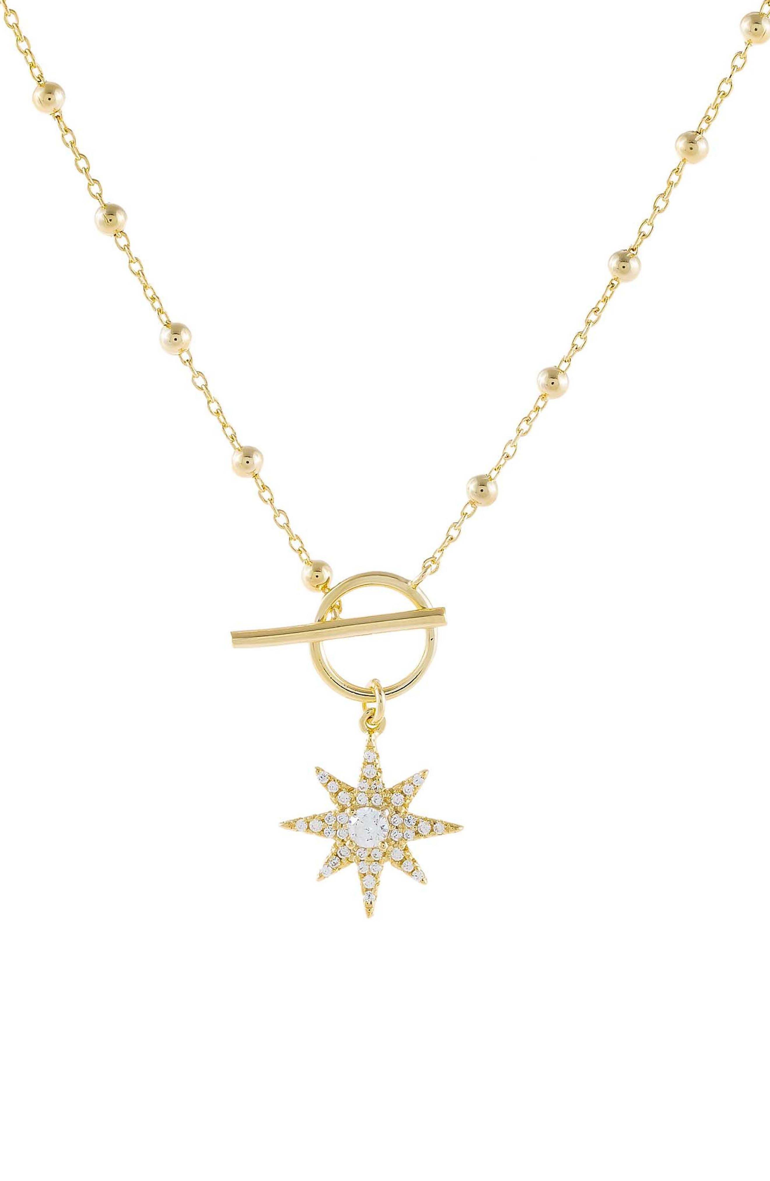 Women's Adina's Jewels Starburst Pendant Necklace