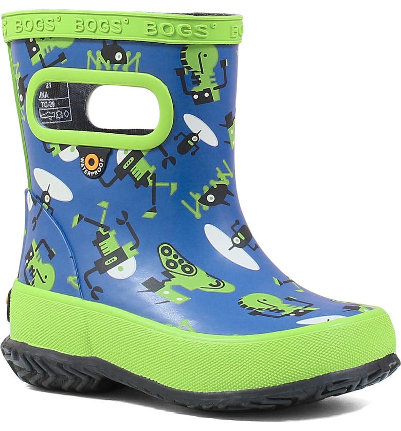 BOGS Skipper Dragonfly Waterproof Rain Boot, Main, color, NAVY MULTI