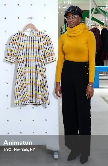 Aurelia Check Open Back Minidress, sales video thumbnail
