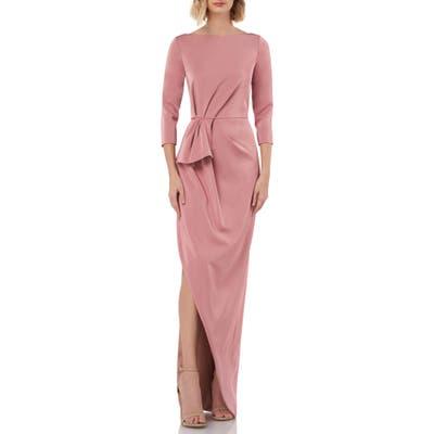 Kay Unger Gathered Waist Evening Dress