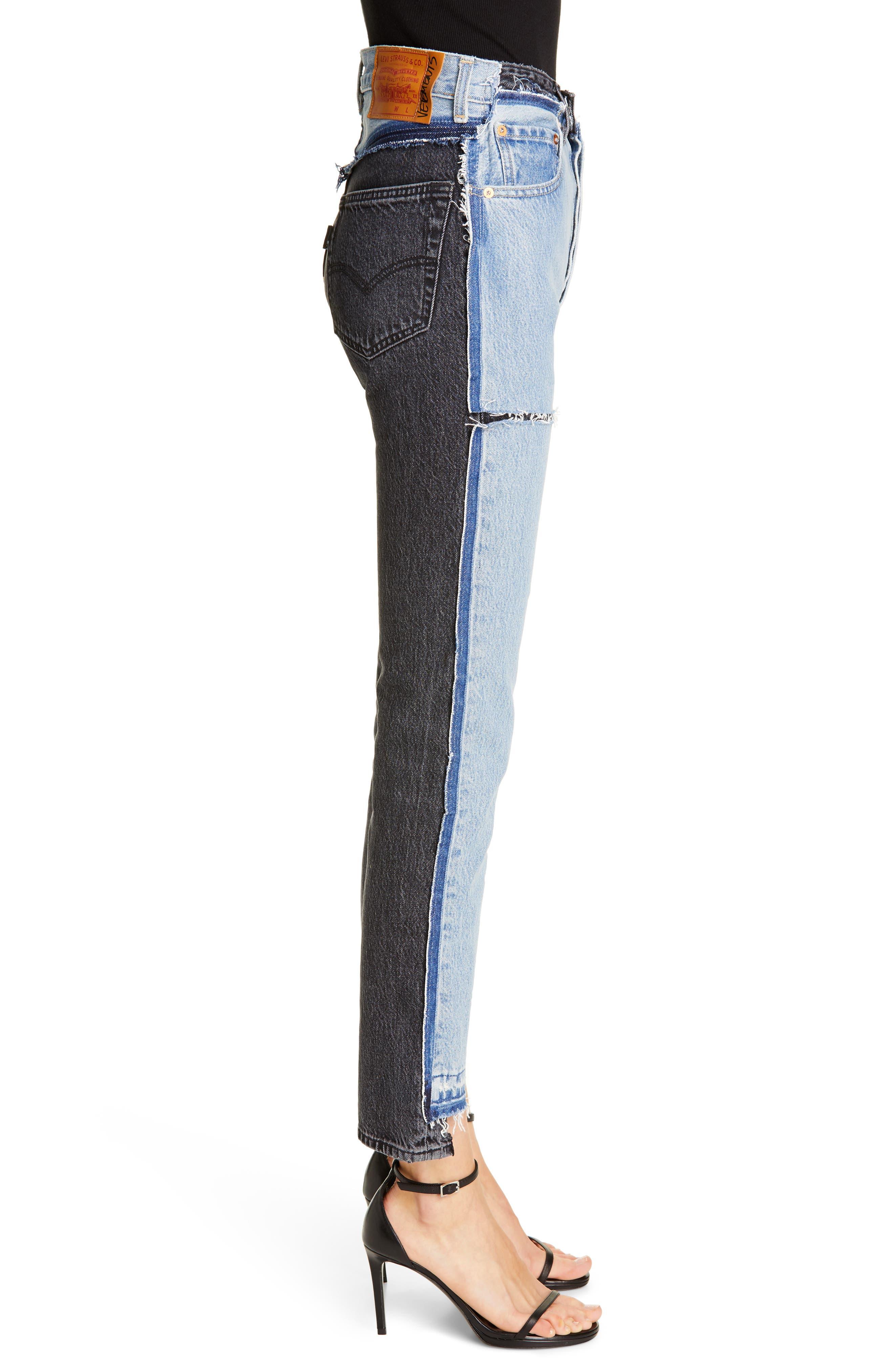 Vetements Jeans Reworked Straight Leg Jeans