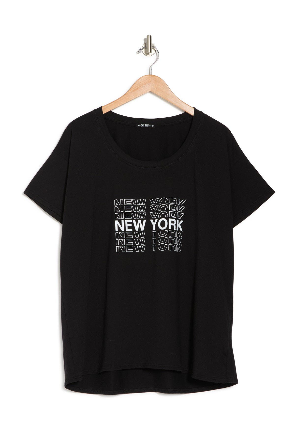 Image of Knit Riot Oversized Short Sleeve New York Tee