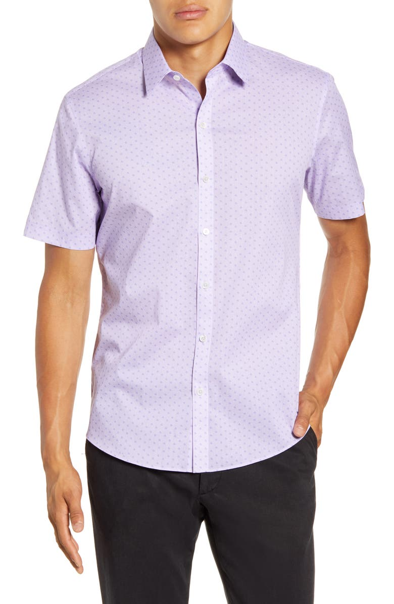 ZACHARY PRELL Yule Regular Fit Short-Sleeve Button-Up Sport Shirt, Main, color, 530