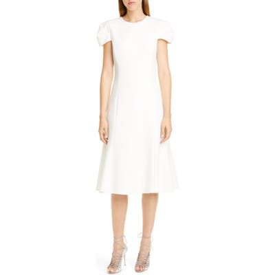 Jason Wu Collection Compact Crepe Fit & Flare Dress, White