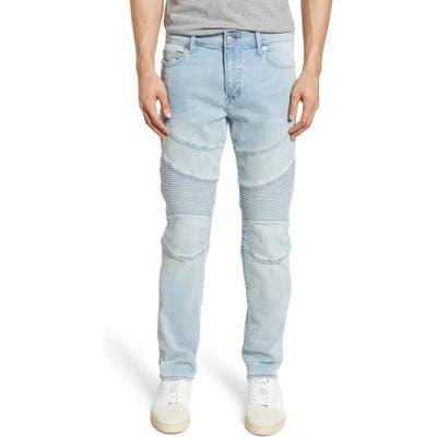 True Religion Brand Jeans Rocco Moto Skinny Fit Jeans, Blue