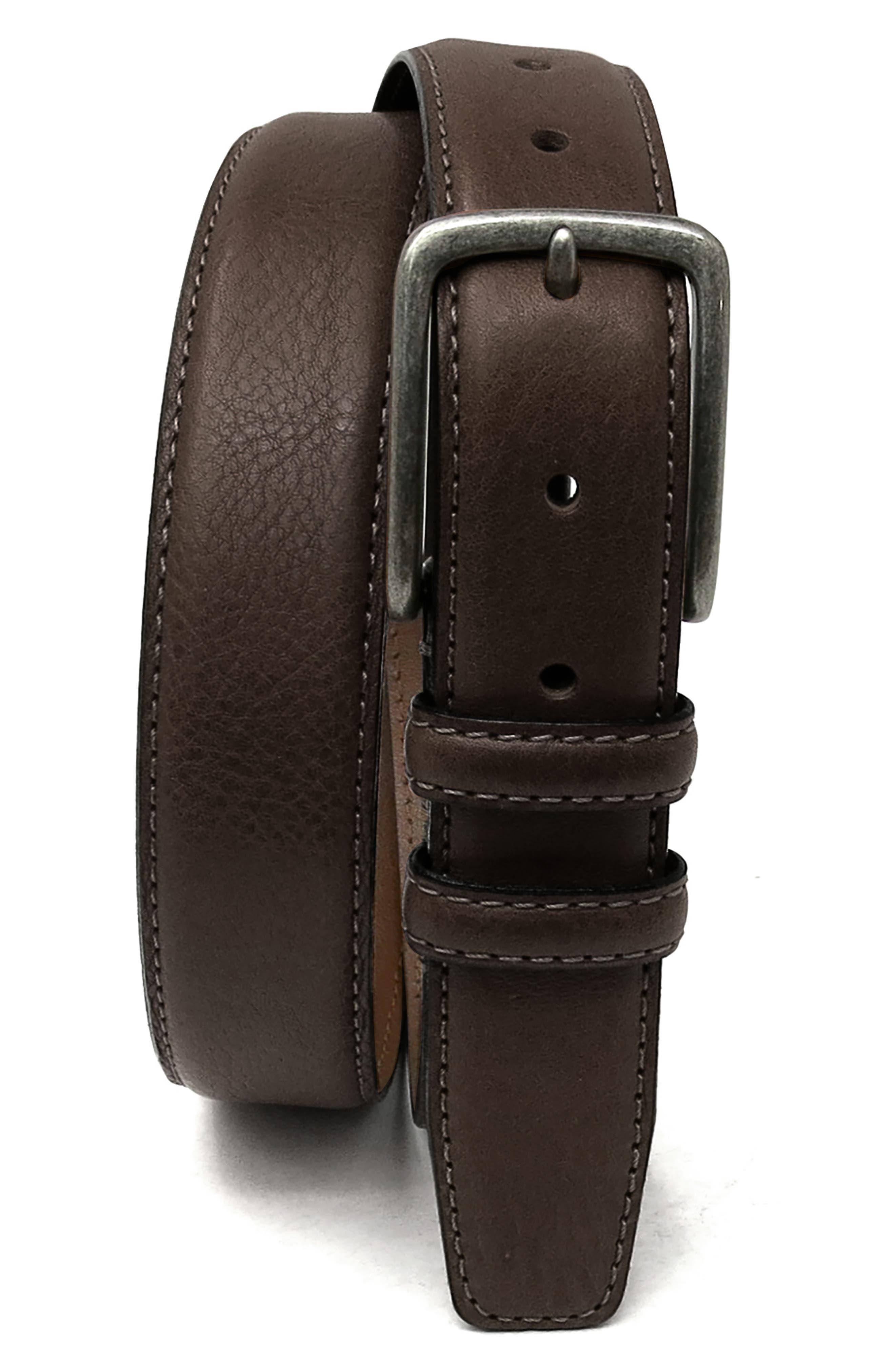Boconi Clapton Leather Belt, Brown