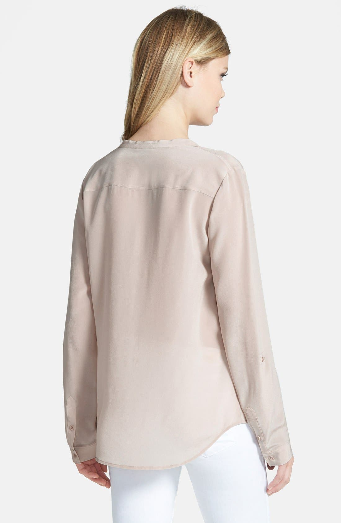 ,                             Collarless Silk Blouse,                             Alternate thumbnail 35, color,                             250