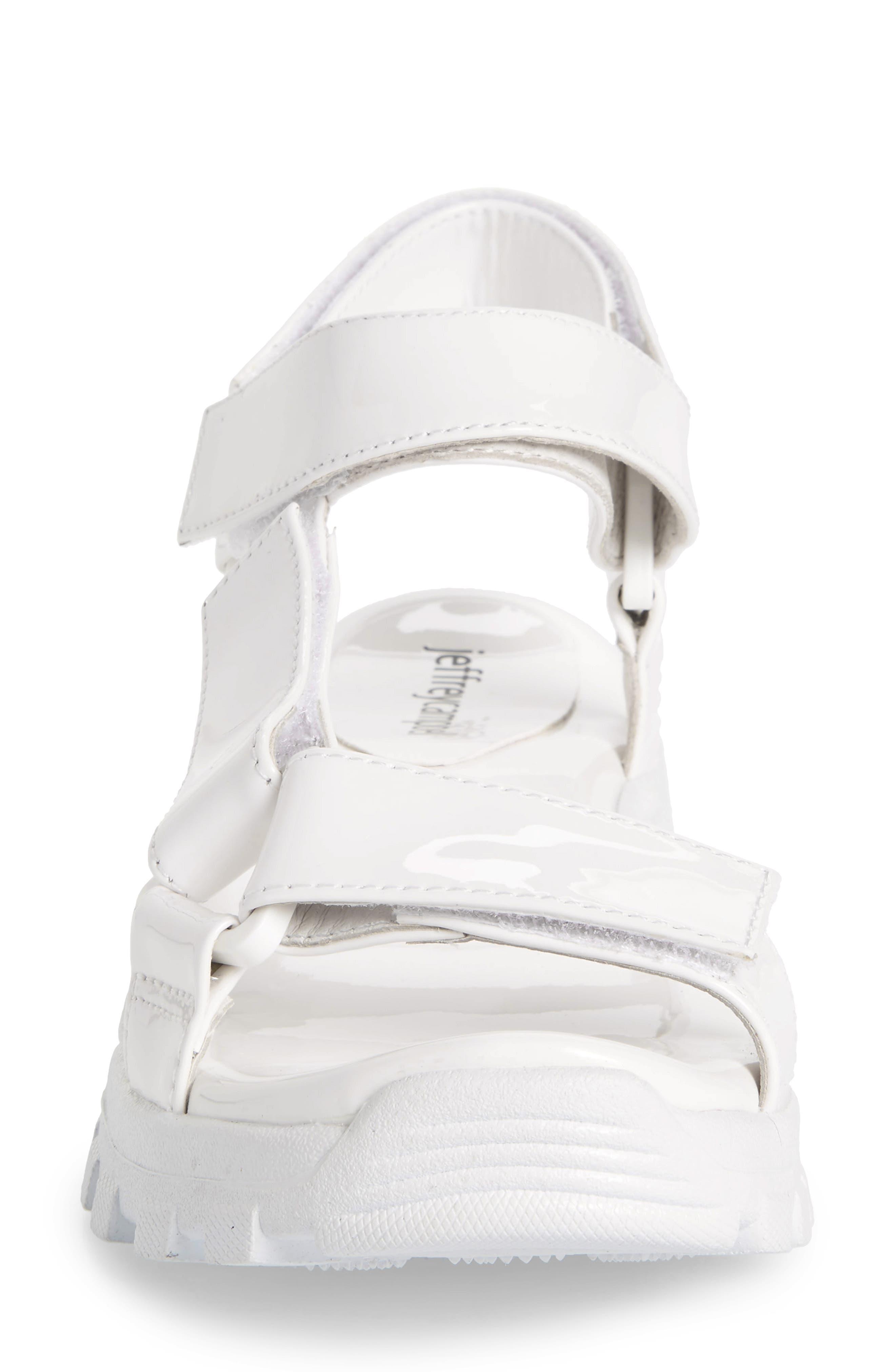 ,                             Patio Sport Sandal,                             Alternate thumbnail 4, color,                             WHITE PATENT LEATHER/ WHITE