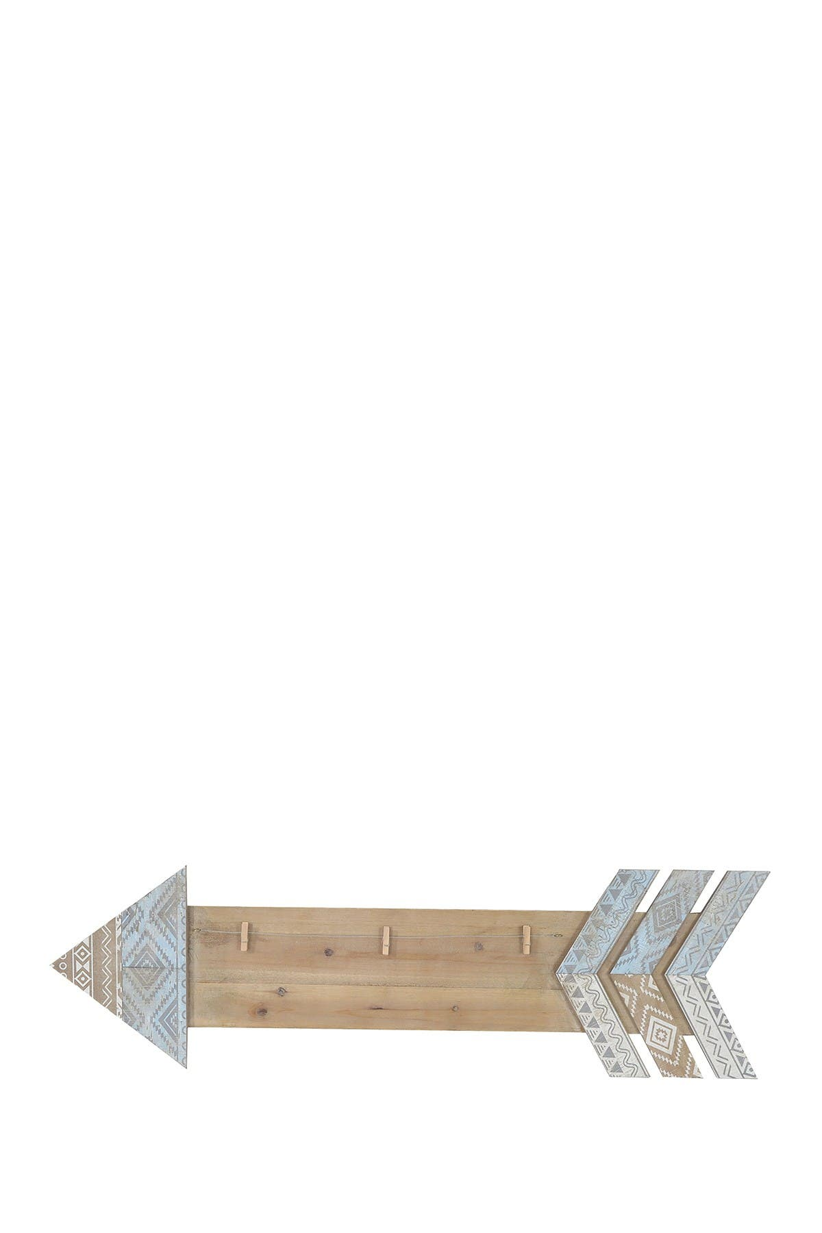 Image of SAGEBROOK HOME Brown/Silver Wood Arrow Memo Board
