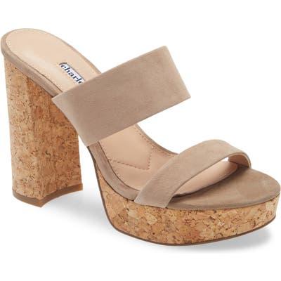 Charles David Jinx Platform Slide Sandal, Grey