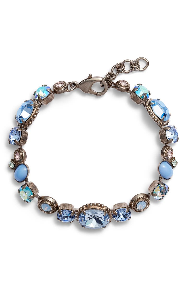 SORRELLI Pastel Prep Adorned Crystal Line Bracelet, Main, color, 400