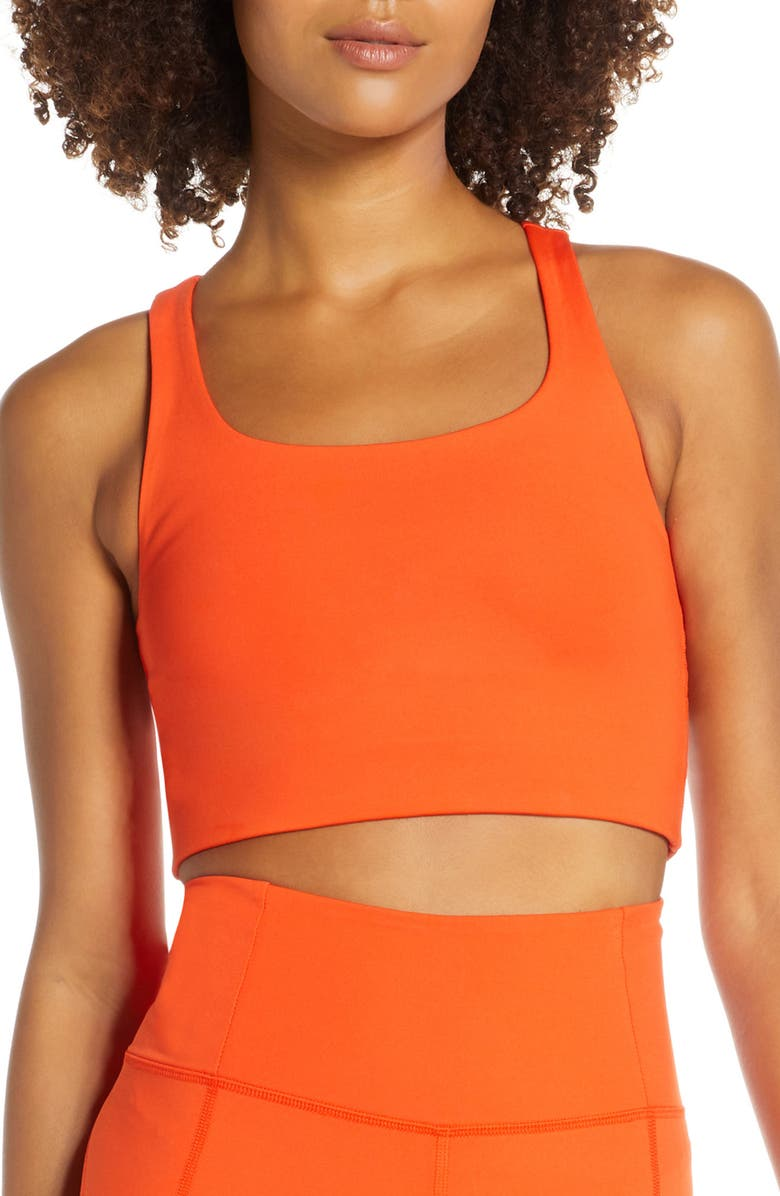 GIRLFRIEND COLLECTIVE Paloma Sports Bra, Main, color, DAYBREAK