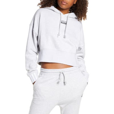 Adidas Originals Vocal Crop Hoodie, Grey