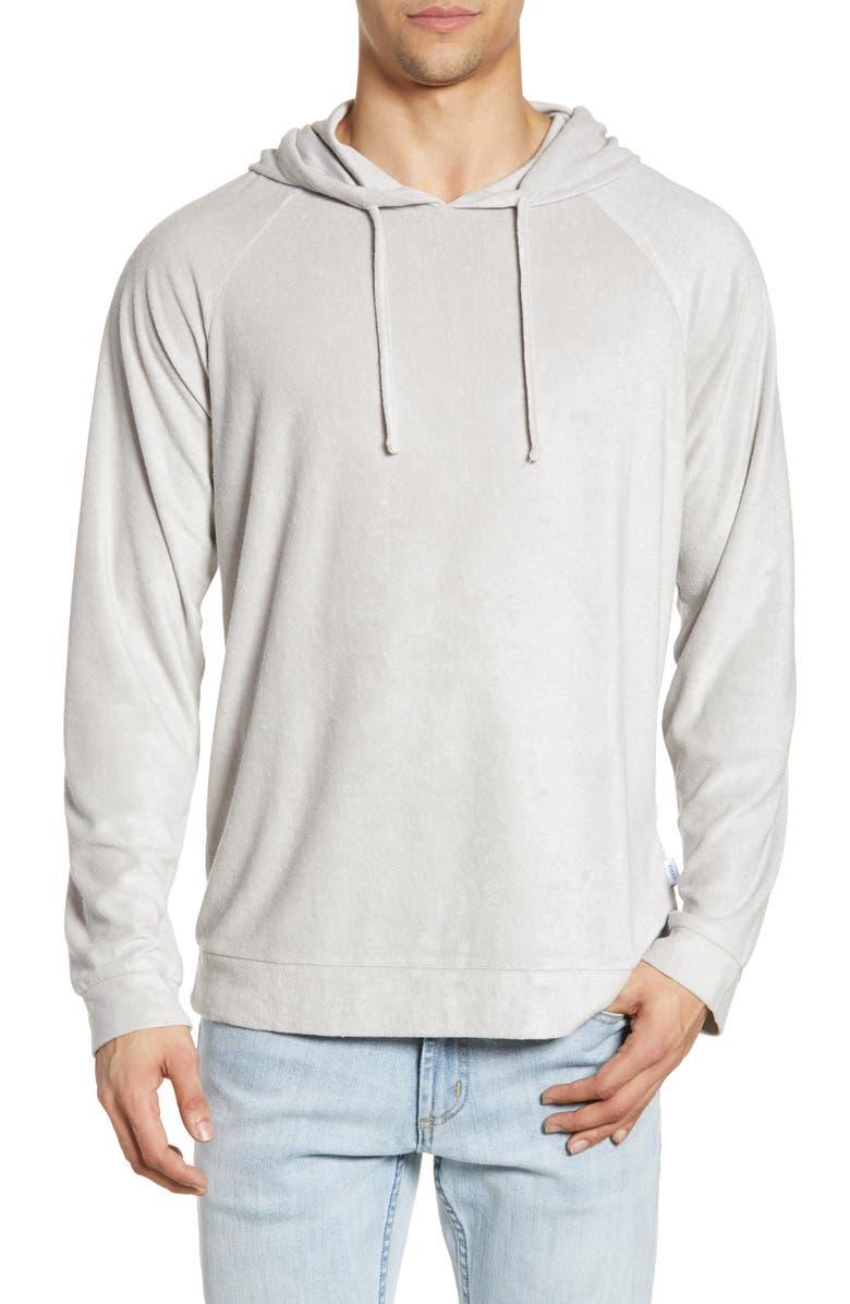 ONIA Aaron Terry Pullover Hoodie, Main, color, SUMMER FOG