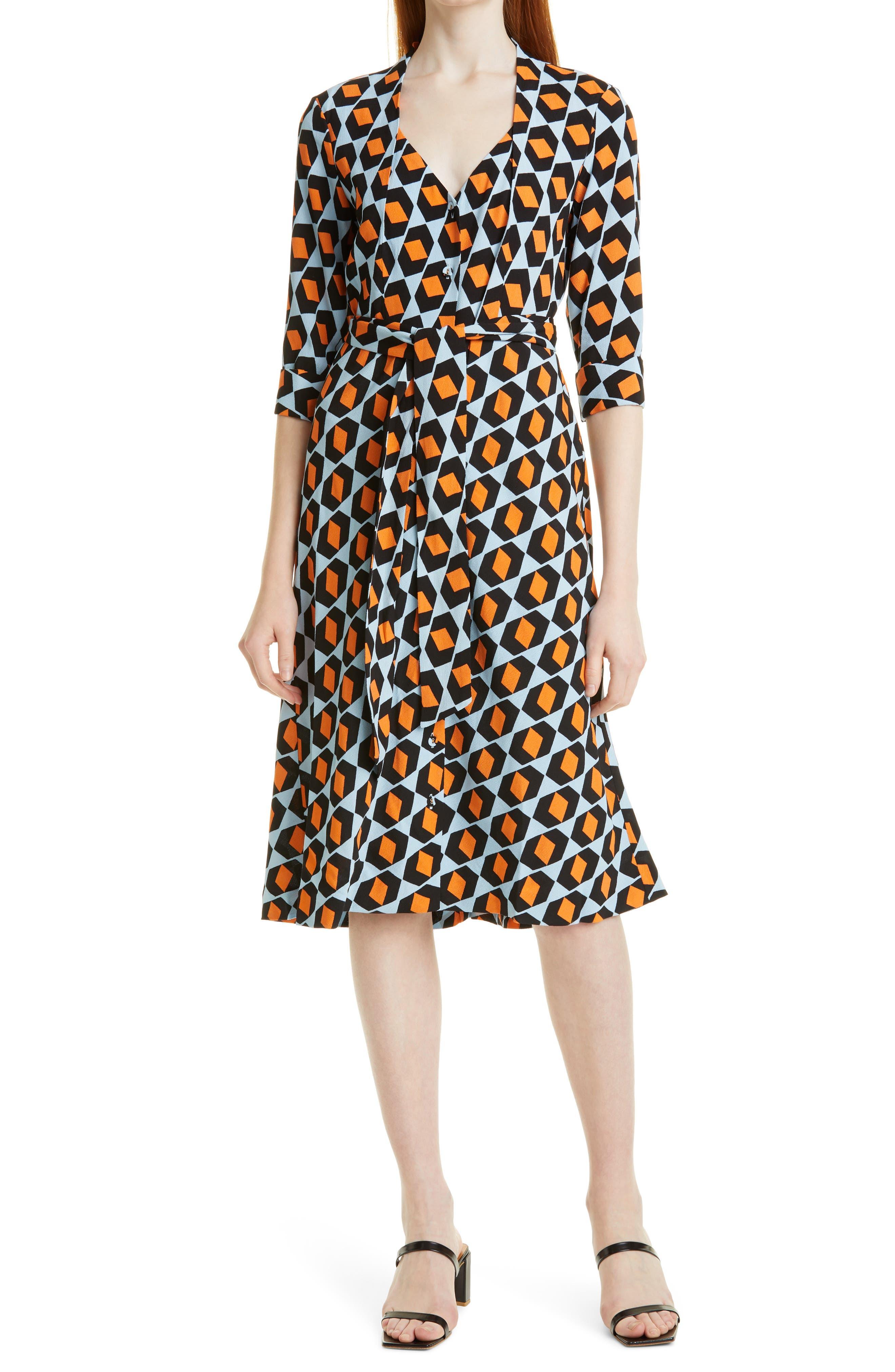 Judith Geo Print Tie Waist Dress