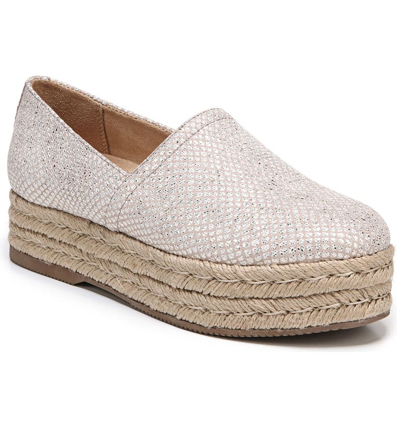 NATURALIZER Thea III Espadrille Slip-On, Main, color, CREAM LEATHER