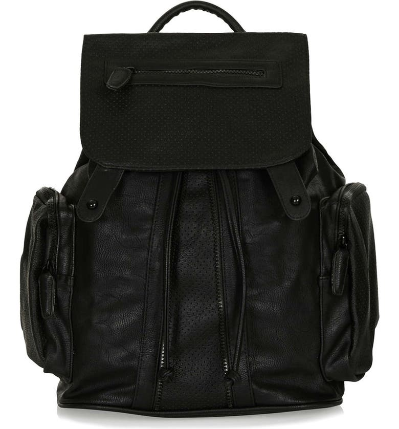 TOPSHOP Perforated Backpack, Main, color, 001