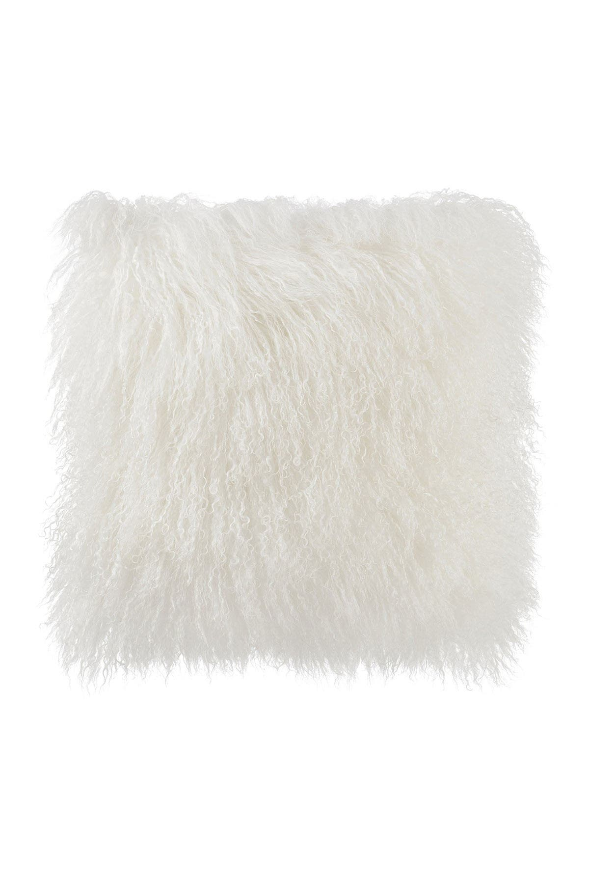Image of TOV Furniture White Tibetan Sheep Pillow