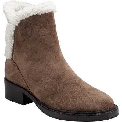 Sigerson Morrison Hatty Genuine Shearling Lined Boot, Brown