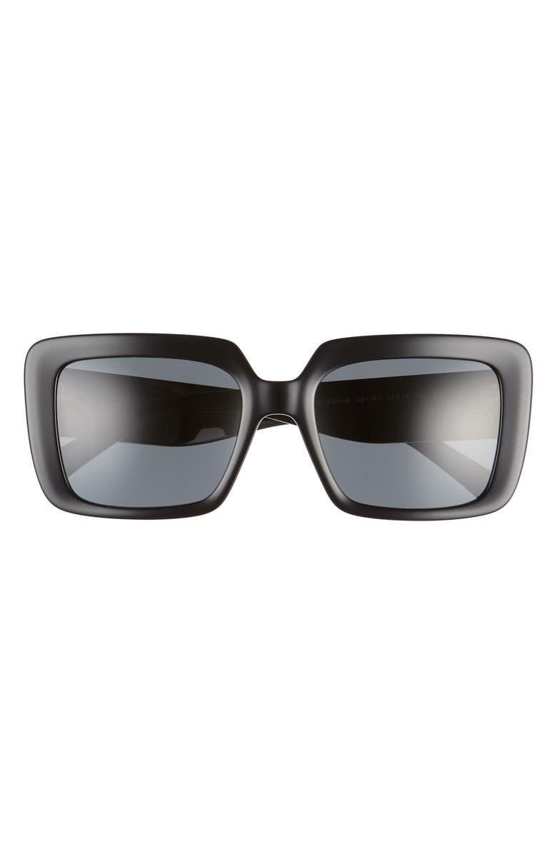 VERSACE 54mm Square Sunglasses, Main, color, 001