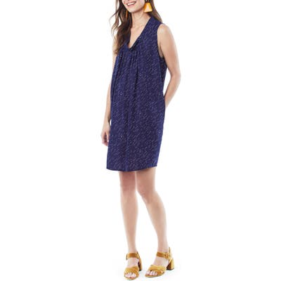 Loyal Hana Anya Maternity/nursing Shift Dress, Blue