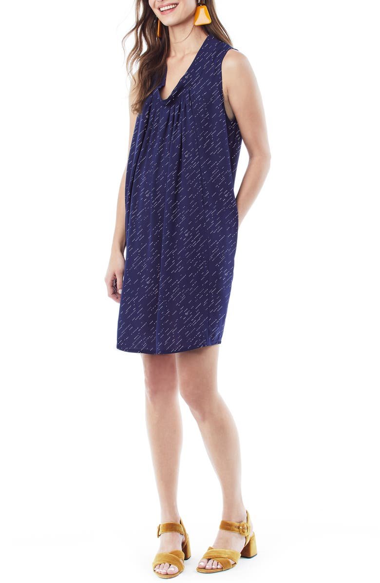 LOYAL HANA Anya Maternity/Nursing Shift Dress, Main, color, NAVY DIAGONAL