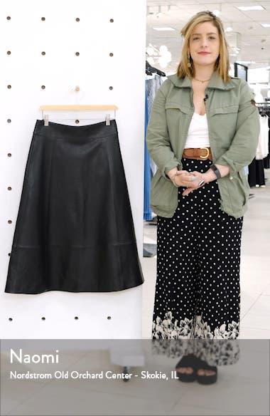 A-Line Leather Midi Skirt, sales video thumbnail