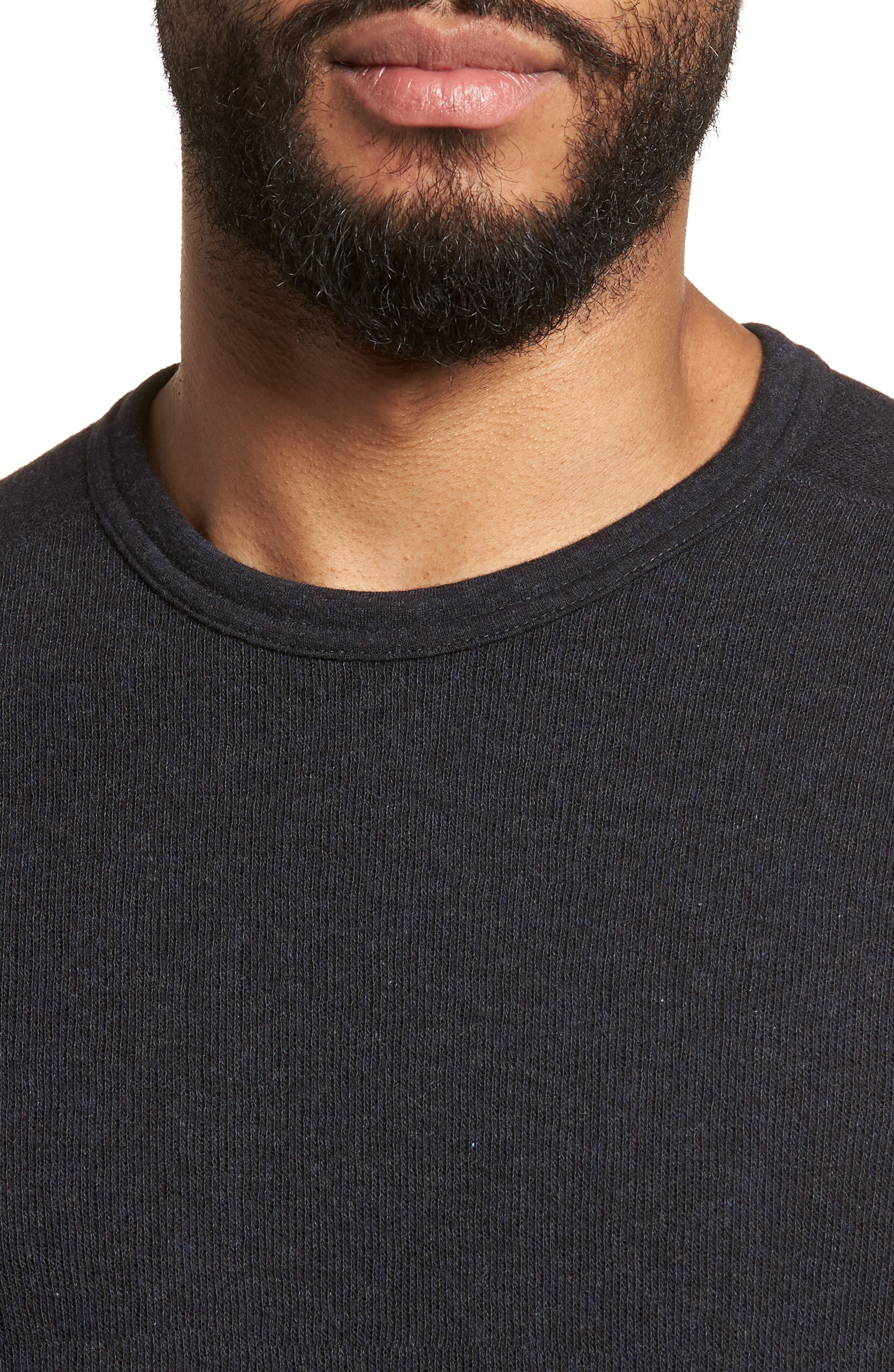 ,                             Double Knit Slim Fit Long Sleeve T-Shirt,                             Alternate thumbnail 4, color,                             MANHATTAN NAVY