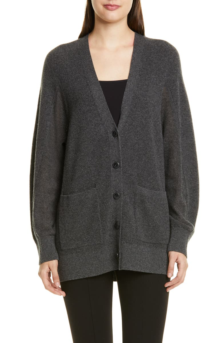 RAG & BONE Yorke Cashmere Cardigan, Main, color, CHARCOAL