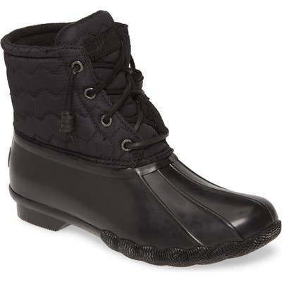 Sperry Saltwater Rain Boot, Black