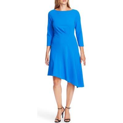 Vince Camuto Ponte Knit Crepe Asymmetrical Dress, Blue