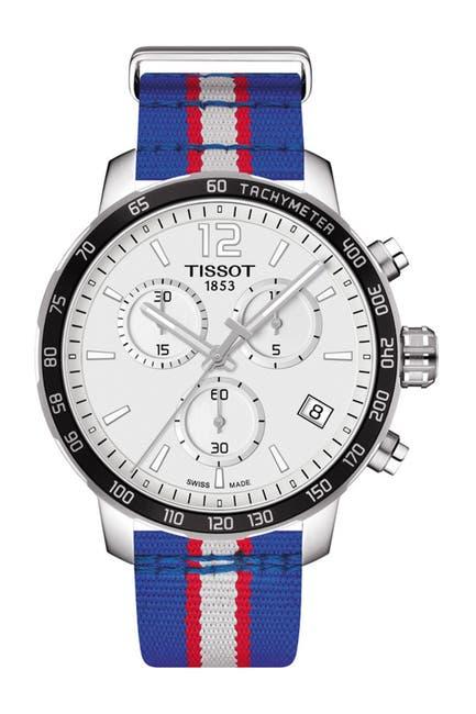 Image of Tissot Men's Quickster Chronograph NBA Detroit Pistons Watch, 42mm