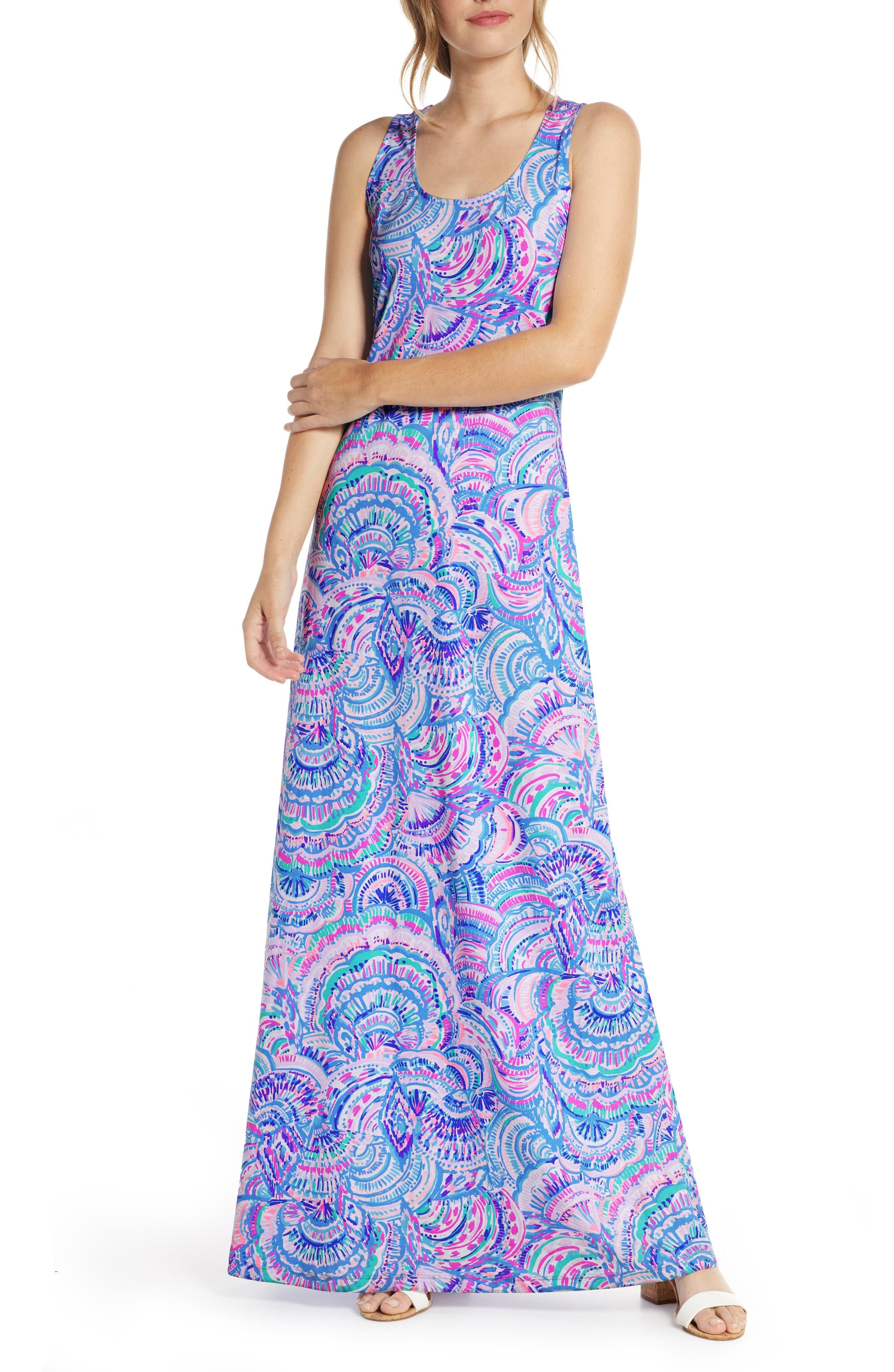 70s Dresses – Disco Dress, Hippie Dress, Wrap Dress Womens Lilly Pulitzer Treena Maxi Dress $148.00 AT vintagedancer.com