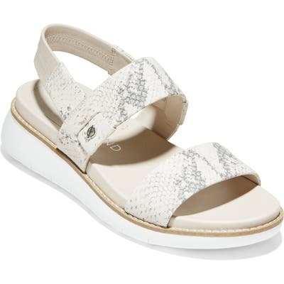 Cole Haan Zerogrand Double Band Sandal B - Ivory