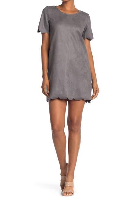 Image of HYFVE Scallop Trim Shift Dress
