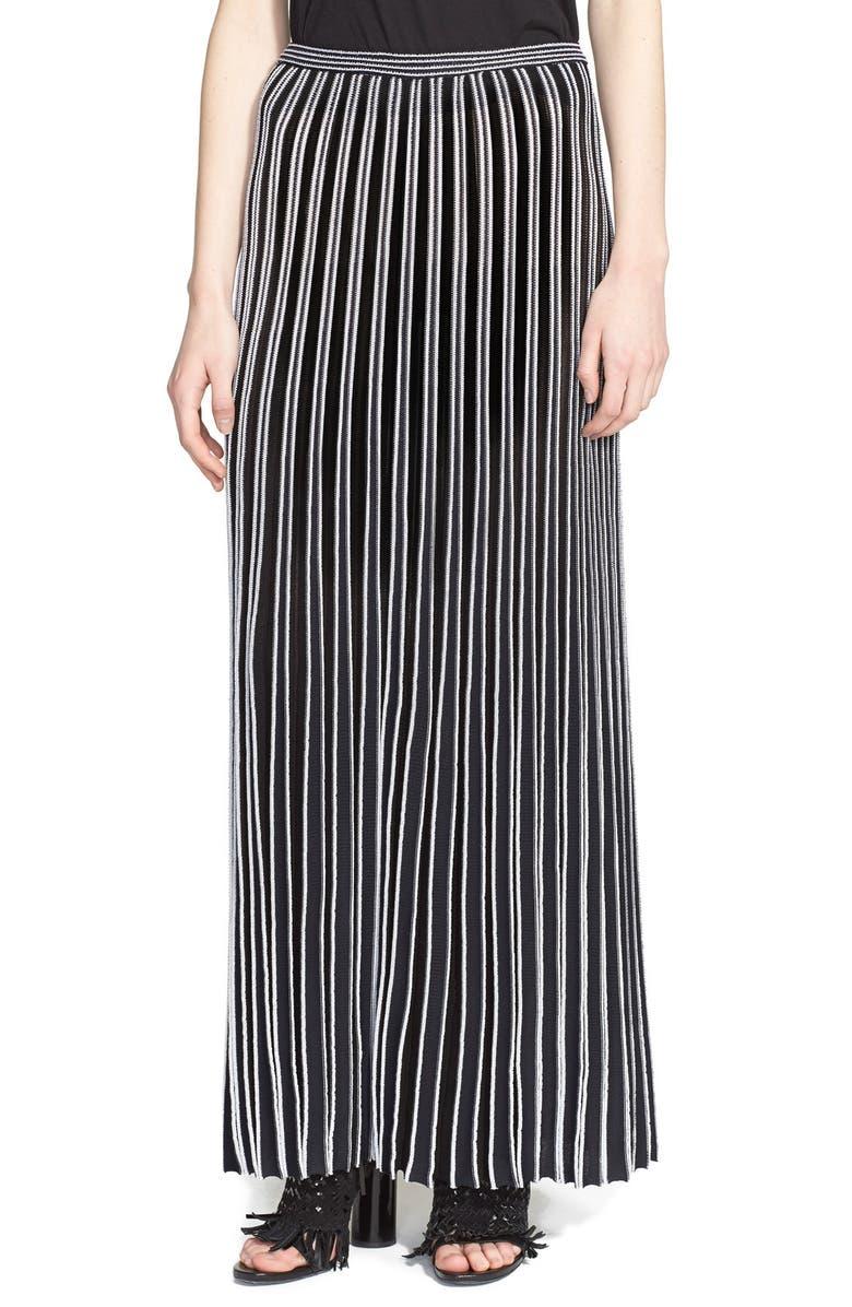 PROENZA SCHOULER Accordion Pleat Maxi Skirt, Main, color, 009